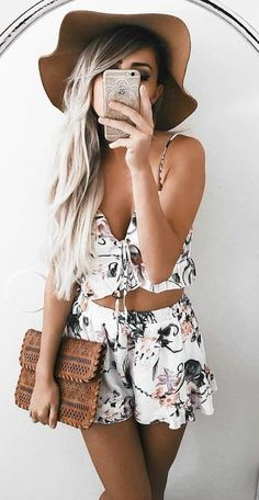 #summer #young #girls #outfits   Floral Two Piece Set