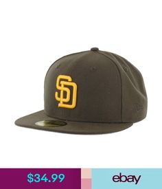 Hats Era 59Fifty San Diego Padres Cooperstown Fitted Hat (Brown/Gold) Mlb Cap #ebay #Fashion