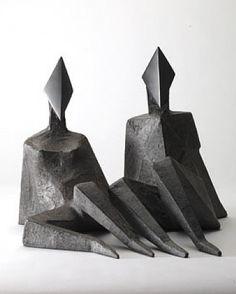 Sculpture by Lynn Chadwick- Maquette IV Diamond. Art Sculpture, Steel Sculpture, Modern Sculpture, Abstract Sculpture, Bronze Sculpture, Lynn Chadwick, Modern Art, Contemporary Art, Art Pieces