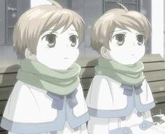 Hikaru & Kaoru Hitachiin, from The Twins Fight! Ouran High School Host Club.