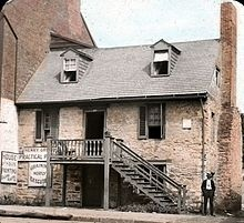 Old Stone House (Washington, D.C.) - built in 1765, it's the oldest standing structure in DC, and 11 of it's former inhabitants have been reluctant to move on after death. These spirits, thought to be the families and servants who lived here have been spotted in every room.