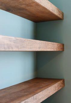 diy solid wood wall to wall shelves diy pinterest solid wood rh pinterest com real wood wall shelves Floating Wood Shelves
