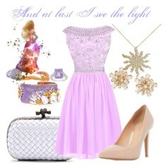"""I see the light"" by grace-buerklin ❤ liked on Polyvore featuring Bottega Veneta, Reception, Dorothy Perkins, Allurez, Bijoux de Famille, Ice, Disney, disney, rapunzel and tangled"