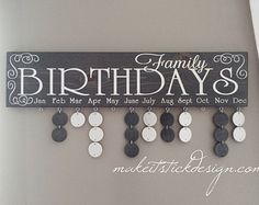 White and Black Family Birthday Celebrations by MakeitStickDesigns