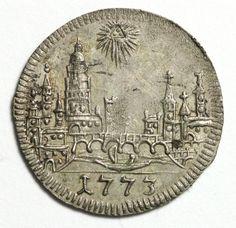 1773 German States Frankfurt Kreuzer KM# 253