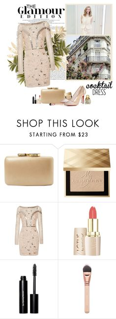 """""""Perfect Dress"""" by polybaby ❤ liked on Polyvore featuring Kayu, Burberry, Clé de Peau Beauté, Temperley London, Bobbi Brown Cosmetics, cocktaildress and polyvoreeditorial"""
