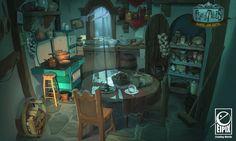 "Vanja Todoric: Fearful Tales - ""Hansel and Gretel"" part I Bg Design, Prop Design, Cartoon Background, Animation Background, Environment Concept, Environment Design, Interior Concept, Matte Painting, Illustration"