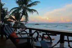 Tulum beach lounge sunset in Mexico Riviera Maya