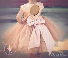 """Champagne glimmer tutu dress - """"April"""" - """"Touch of Sparkle"""" Collection"""