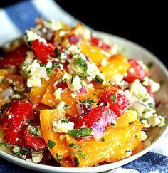 Roasted Pepper & Feta Salad