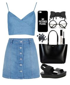 """trying out the popular layout"" by lollolololollol ❤ liked on Polyvore featuring Yves Saint Laurent, Boohoo, ALDO, Casetify and Bobbi Brown Cosmetics"