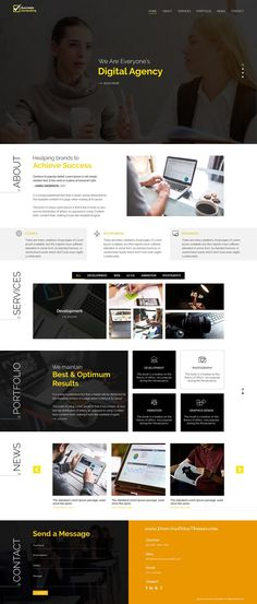 Success is clean and modern design PSD template for #onepage creative #consulting agency website to live preview & download click on Visit  #psdmockups