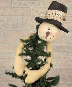 Check out the deal on Believe Snowman Tree Topper at Primitive Home Decors