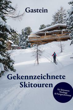 Du bist Skitouren-Neuling? Dann kannst du in Gastein, im Salzburger Land, deine Kenntnisse aufbessern. Mit beschilderten Touren startest du garantiert sicher in diese für dich neue Sportart und machst deinen Urlaub in den Bergen zu einem ganz besonderen Erlebnis. Bergen, Ski Touring, Skiing, Challenges, Vacation, Outdoor, Sport, Winter Vacations, Ski