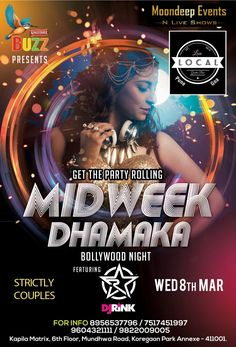THE BIG NIGHT OF THE MONTH IS HERE!!!!  KINGFISHER BUZZ presents BOLLYWOOD NIGHT with INDIAS NO1 FEMALE DJ - RINK  YOU DO NOT WANT TO MISS DJ RINK AT YOUR FAVORITE CLUB Local Gastro Bar Pune  FOR RESEVATIONS AND GLIST CALL ON 8956537796