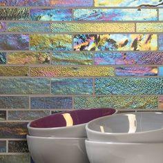 Morning Dew Iridescent Glass Mosaics