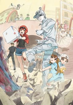 The official website for the television anime of Akane Shimizu's Cells at Work! The anime will premiere on Tokyo MX, Tochigi TV, and Gunma TV on. Me Me Me Anime, Anime Love, Noragami, Digimon, Manga Anime, Manga Art, Fan Art Anime, Tamako Love Story, Red Blood Cells