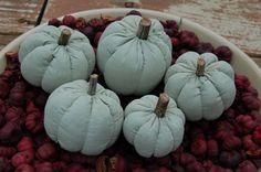 Primitive Fall White Pumpkin Ornies Bowl by Pebblebrooklane, $13.99