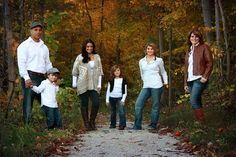 Family of 6 Fall Autumn Outdoor Pose
