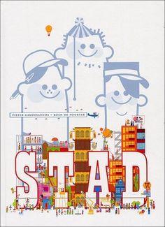 Een kijk- en leesboek over drie broers die ieder hun eigen stad bouwen: eentje in het teken van prei, een veilige stad en een geordende, groene stad. Vanaf ca. 6 jaar.