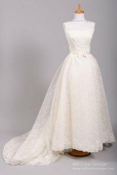 1960's brides wedding photo print ad veil train models ...