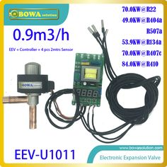 Universal electronic expansion valve unit is working independently and don't need any extra PCB board, best choice for throttle