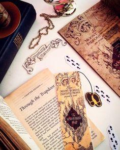 harry potter marauder maphandmade bookmark by boookmarky