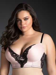 90a9313cf1c03 Lace Long Line Bra From the Plus Size Fashion Community at  www.VintageandCurvy.com