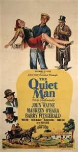 The Quiet Man ( 1952 ) ~ This JOHN WAYNE Classic has some beautiful shots of the rolling hills of Ireland, thanks to the photogenic eye of Director JOHN FORD. It also has one of the BEST fist fights in Cinema History.