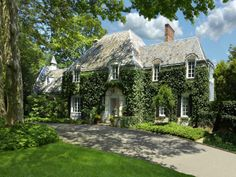 Connecticut Classic:  Normandy-style estate with ivy covering the facade.