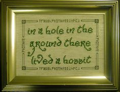 Embroidered decor - so sweet!!! And adding some Hobbit references definately adds to the charm!
