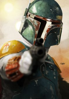 Epic Star Wars Illustrations Boba Fett