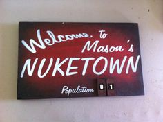 Call of Duty Nuketown ZOMBIE Version Custom par acmepropcompany - Gamer House Ideas 2019 - 2020 Army Birthday Parties, 12th Birthday, Deco Gamer, Black Ops Zombies, Brothers Room, Man Cave Items, Call Of Duty Zombies, Zombie Party, Gaming Room Setup