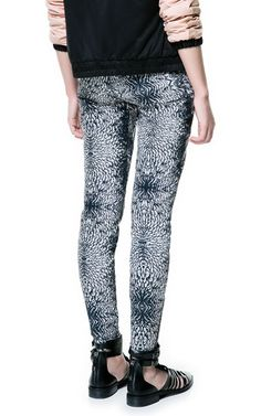 COMBINATION PLUMAGE PRINT TROUSERS - Zara
