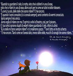 Il Piccolo Principe-citazioni-Quando tu guarderai il cielo,la notte...