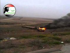 الطريق السريع الدولي في الفلوجة تحت سيطرة المجاهدين صباح 4/1/2014