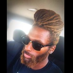 Pompadour. Black Men Hairstyles, Dope Hairstyles, Dreadlock Hairstyles, Dreadlocks Men, Locs, Dreadlock Styles, Pompadour, Hair Goals, African American Hairstyles