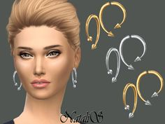 The Sims Resource: Winding Arrow Earrings by NataliS • Sims 4 Downloads