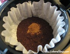 DIY Flavored Coffee: 1/4 tsp per 6 Cups of coffee, You could use cinnamon, pumpkin pie spice, vanilla or peppermint extract....whatever suits your fancy!