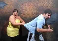 Pictures of people freaking out at a haunted house.... haha!