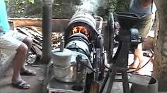 Stirling engine heissluftmotor / Home made hot air engine of stainless-steel - YouTube