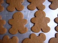 gingerbread cookies. GREAT recipe - fluffy and soft, not hard like so many gingerbread cookies.
