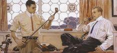 gentlemen golfclub by Leyendecker #illustration #advertising #menswear #menstyle #art