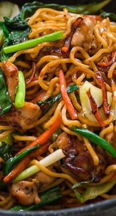 Best Chicken Chow Mein Recipe (炒面) Chicken Chow Mein ~ bowlful of contrasting colors, texture and flavors coming together in different combinations with each bite. The big hunks of chicken are juicy Easy Chinese Recipes, Asian Recipes, New Recipes, Dinner Recipes, Cooking Recipes, Healthy Recipes, Ethnic Recipes, Recipies, Asian Foods