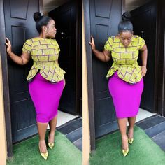 Most stylish african print ankara peplum top styles for plus size ladies, trendy big and beautiful plus size ladies ankara styles, curvy and thick ladies ankara styles African Fashion Ankara, African Inspired Fashion, Latest African Fashion Dresses, African Dresses For Women, African Print Dresses, African Print Fashion, African Attire, African Wear, Women's Fashion Dresses
