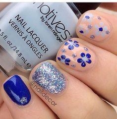 Uñas decoradas color azul, segunda parte con 30 imágenes – Blue Nails | Decoración de Uñas - Manicura y NailArt - Part 2