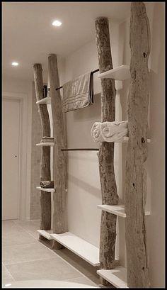 DIY Handtuch-Regal - Idee fürs Bad