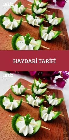 Haydari Recipe - My Delicious Food - Best Appetizers Appetizer Buffet, Easy Appetizer Recipes, Yummy Appetizers, Party Finger Foods, Snacks Für Party, Watermelon Appetizer, Welsh Cakes Recipe, Fundraiser Food, Catering