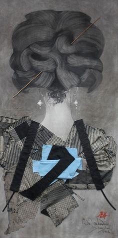 艺术家Christian de Laubadère(麓幂)--颈项画系列.LOOOKDESIGN【小克爱家居】
