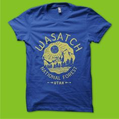 Vintage National Forest T-Shirt Wanted by Arace
